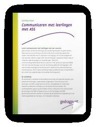 Communiceren met leerlingen met ASS