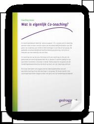 Wat is eigenlijk Co-teaching?